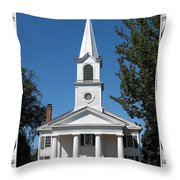The First Church Of Evans In New York State Throw Pillow