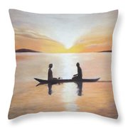 The First Date Throw Pillow