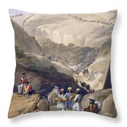 The First Descent Through The Koojah Throw Pillow