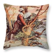 The First Englishman To See The Pacific Throw Pillow