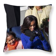 The First Family Throw Pillow
