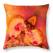 The First Flower Throw Pillow