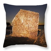 The First Ice ... Throw Pillow