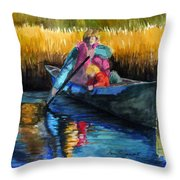 The First Mate Throw Pillow by Lenore Gaudet