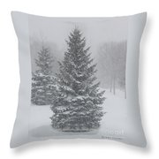 The First Snow Of Christmas Throw Pillow