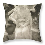 The First Whisper Of Love After Bouguereau Throw Pillow