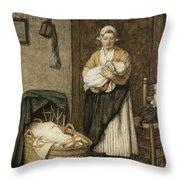 The Firstborn, 1875 Throw Pillow