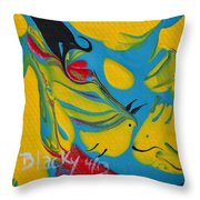 The Fish And The Bird Throw Pillow