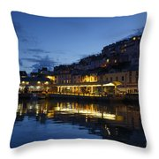 The Fish Market Throw Pillow
