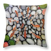 The Fish Pond Throw Pillow