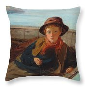 The Fisher Boy Throw Pillow