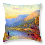 Fishing And Dreaming Throw Pillow