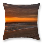 The Fisherman's Golden Hour Throw Pillow