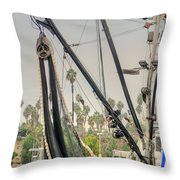 The Fishing Boat Throw Pillow