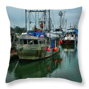 The Fishing Boat Genesta Hdrbt4240-13 Throw Pillow