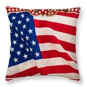 The Flag Throw Pillow by Martin Bergsma