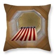 The Flag - Maryland State House Throw Pillow