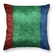 The Flag Of The Planet Mars Throw Pillow