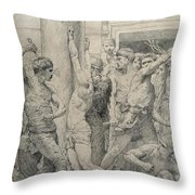 The Flagellation Of Christ Throw Pillow by William Adolphe Bouguereau