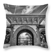 The Flagler College Entrance  Throw Pillow