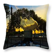 The Flame Of Liberty In Paris Throw Pillow