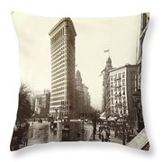The Flatiron Building In Ny Throw Pillow
