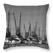 The Fleet Throw Pillow by Debra and Dave Vanderlaan