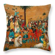 The Flight Out Of Egypt Throw Pillow