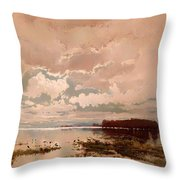 The Flood In The Darling 1890 Throw Pillow