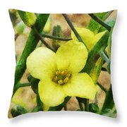 The Flower Of The Broccoli  Throw Pillow