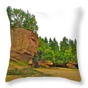 The Flowerpots At Hopewell Rocks On Bay Of Fundy-new Brunswick Throw Pillow