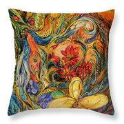 The Flowers Of Holy Land Throw Pillow