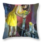 The Flowers Throw Pillow