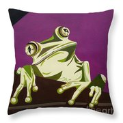 The Fly Catcher Throw Pillow