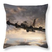 The Flying Fortress Throw Pillow
