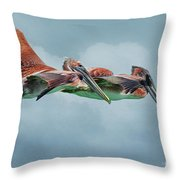 The Flying Pair Throw Pillow
