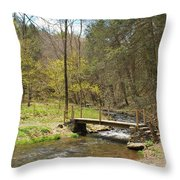 The Foot Bridge Throw Pillow