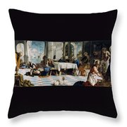The Foot Washing Throw Pillow