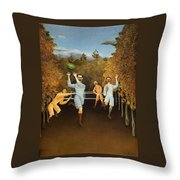 The Football Players 1877 Throw Pillow
