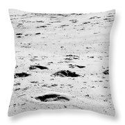 The Footprints At Wineglass Throw Pillow