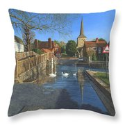 The Ford At Eynsford Kent Throw Pillow