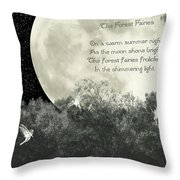 The Forest Fairies Throw Pillow