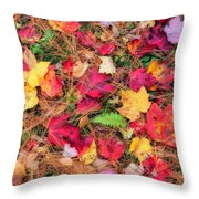 The Forest Floor Throw Pillow