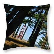 The Forest Of The Golden Gate Throw Pillow