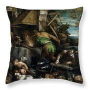 The Forge Of Vulcan Throw Pillow