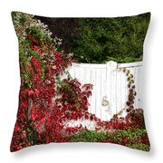 The Forgotten Gate Throw Pillow by Olivier Le Queinec