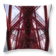The Forth Bridge Up Close And Personal Throw Pillow