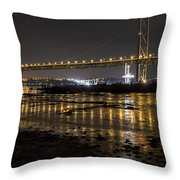 The Forth Road Bridge Throw Pillow by Ross G Strachan