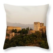The Fortress On The Hill Throw Pillow by Mountain Dreams