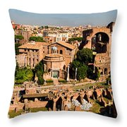 The Forum From The Palatine Throw Pillow